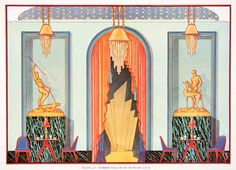 1929 Interior Design illustrated by Edward Thorne