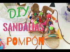 SANDALIAS DE POMPONES (DIY) Fácil de hacer   Kakala - YouTube