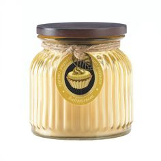 Butter Cream Ribbed Jar Candle - ShoppersDelight