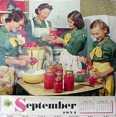 This will be me on Friday. {Girl Scout 1954 calendar}