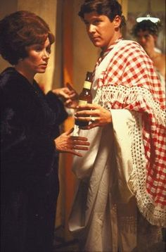 """Verna Bloom as Marion Wormer and Tim Matheson as Eric Stratton in """"Animal House"""" National Lampoon's Animal House, Tim Matheson, Toga Party, Ivy Style, National Lampoons, University Of Arkansas, Movie Party, Comedy Movies, Animals Of The World"""