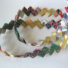 DIY Woven Paper Christmas Tree Garland Tutorial