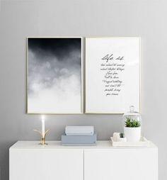 Scandinavian style interiors, Scandinavian living, Scandinavian home decor, wall gallery ideas, gallery wall art inspiration. Bedroom inspiration. Posters and prints. http://Desenio.com