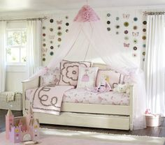 day bed - ideal because she can maximize space for room
