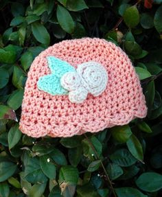 Baby Belle hat - free crochet pattern