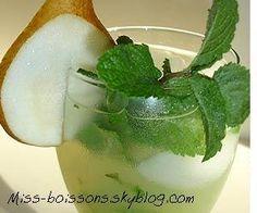 LE COCKTAIL POIRE MOJITO: Les ingrédients: - 1 rhum de blanc de pièces de 1/2 - 1 part de jus de limette serré frais - 2 parts ont fraîchement extrait le nectar de poire - 1 part de sirop simple - ...