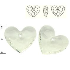 6264 Truly in Love Heart 28mm Crystal  Dimensions: 28,0 mm Colour: Crystal 1 package = 1 piece