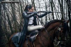 "It is not all ""costume drama"" on a side saddle: Lara Croft rocks it too!"