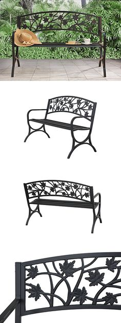 Benches 79678: Steel Outdoor Bench Loveseat Garden Park Porch Yard Patio  Chair Metal Furniture  U003e BUY IT NOW ONLY: $56.4 On EBay!