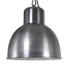 Industriële lamp zilver