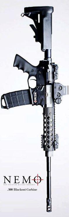 NEMO Arms .300 Blackout Carbine. Proven function meets drop dead gorgeous.