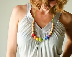 The BestSeller Simple Rainbow Necklace  CHOOSE by KangarooCare, $25.00