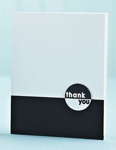 Thank You in Black & White by @Ineke Douras Love (Amber Kemp-Gerstel) from this blogpost:  www.papercraftsco...