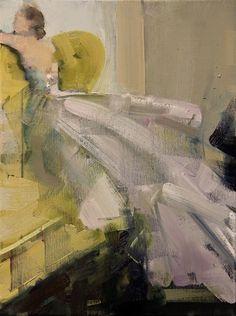 "Saatchi Art Artist: Fanny Nushka Moreaux; Oil 2014 Painting ""Tulle Madness, 2014"""