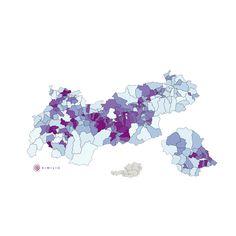Pendler Quote in Tirol: Die interaktive Similio Pendler Quote Karte zeigt die Pendler Quote im Bundesland Tirol an. Detaillierte Ansichten befinden sich im Bereich Landkarten:Bezirke und Landkarten:Landschaften mit Pendler Quote der untergeordneten Bezirke und Landschaften. Geographie, Wirtschaftskunde, Statistik