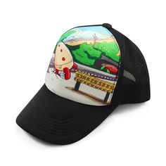 """Please don't run away. The Kin Man means well. He's just a little clumsy, that's all. This colorful snap-back trucker hat features just one of designer Fu's creative mechanical characters."" by mserdark $23.99"