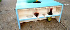 baggo board with wine holder