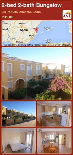Bungalow in Els Poblets, Alicante, Spain Bungalows For Sale, Alicante Spain, Murcia, Seville, Malaga, Madrid, Spanish, Bath, Mansions