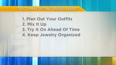 Personal stylist Elizabeth Jones says try planning your outfits like a meal plan. She is here to show us how.