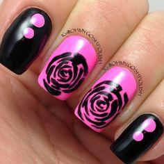 Photo by ohmygoshpolish #rose #pink #nails