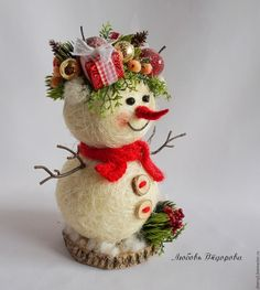 Купить Новогодний подарок Снеговик - белый, снеговичок, новогодний подарок, новогодний презент, корпоративный подарок
