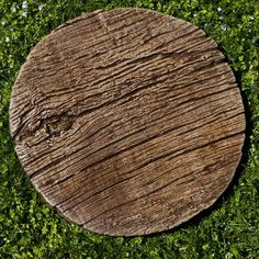 Campania International Faux Bois Cast Stone Stepper - Garden Decor at Hayneedle Stone Decoration, Wooden Pathway, Paver Pathway, Gravel Walkway, Garden Stepping Stones, Concrete Stepping Stones, Yard Stones, Garden Steps, Garden Paths
