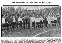 Formación de veteranos del FCB en un partido a beneficio de Lluis Brú jugado el…