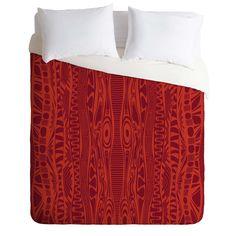 Karen Harris Wavelength Flame Duvet Cover | DENY Designs Home Accessories
