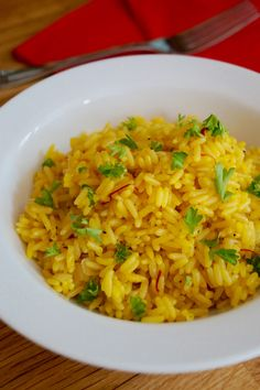 Fluffy aromatic butteredsaffron rice. A classic and delicious side dish. I absolutely adore simple and easy dishes. They're especially convenient for busy working families with hardly any ti…