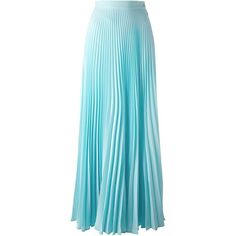 Fendi long pleated skirt (6,245 MYR) ❤ liked on Polyvore featuring skirts, maxi skirts, saias, hameet, bottoms, blue, long ankle length skirts, long pleated maxi skirt, high waisted skirts and long skirts