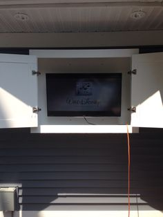 Outdoor TV Cabinet Made With Azek PVC Trim Boards, Kreg Pocket Holes, And  Blum