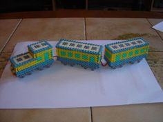 3D Train hama beads by zoe94