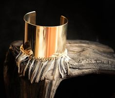 Super cool Gold Fringed Cuff/Armband