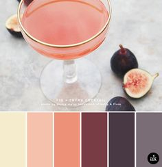 a fig-cocktail-inspired color palette