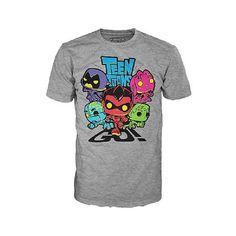 "Funko POP! Tees: Teen Titans Go! T Shirt - Grey Large - Funko - Toys ""R"" Us"