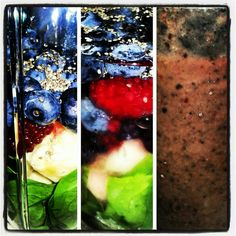 2day I made for us a NutriBullet Drink includes Spinach,  Banana,  Blueberries, Blackberries,  Red Raspberries, ChiaSeeds and H20 Water on 09-10-2013 Hawaii