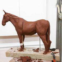 Late night of horsing around in the studio. #ceramics #clay #ceramicsculpture #clayanimals # horse #horsesculpture #studio #studiolife #horse #jamesort #phoenixstudiotowersey