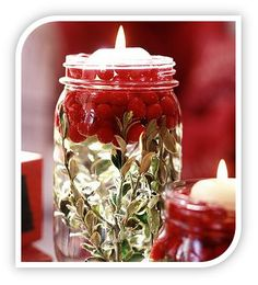 Homemade+Holiday+Candles | Homemade Decoration Idea: Gorgeous Homemade Cranberry Jar Candle!
