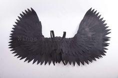 Black Angel Wings, Black Angels, Trending Outfits, Unique Jewelry, Vintage, Etsy, Dark Angels, Costume Jewelry, Vintage Comics