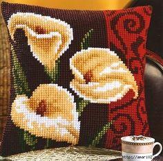 Crochet Knitting Handicraft: Embroidery for pillow