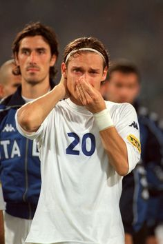 Francesco Totti. You can trust an emotional Italian to make this list. Totti broke down after Italy's painful defeat by France in the final of Euro 2000.