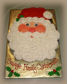Santa cupcake cake