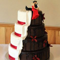Opposites attract, then why not have both chocolate and vanilla? Order wedding cakes with us! Visit www.indiacakes.com!