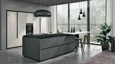 Oltre offers rigorous lines and a rich essence, with many different finishes, details and accessories that make it unique in its genre. All Design, House Design, Modern Home Interior Design, Kitchen Collection, Luxury Kitchens, Wood Veneer, Dining Area, Bookcase, Home Decor