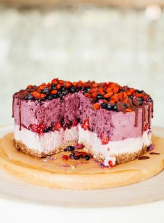 Raw fruit layer cake. This is how you celebrate with the Clean Eater on their birthday. So beautiful and yum.