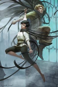 Mistborn: Vin and Kelsier by Shilesque.deviantart.com on @DeviantArt