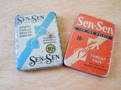 Vintage Sen-Sen Tins • Pair of Vintage Medicine Tins by lisabretrostyle2 on Etsy