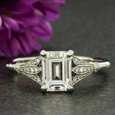 Cool Wedding Rings, Beautiful Wedding Rings, Wedding Rings Solitaire, Wedding Rings Vintage, Bridal Rings, Wedding Jewelry, Solitaire Diamond, Dream Wedding, Diamond Stone