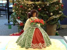Christmas Angel Christmas Barbie, Christmas Angels, Christmas Lights, Xmas Cakes, Christmas Cakes, Winter Fairy, Barbie Cake, Angel Cake, Fairy Cakes