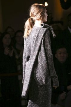 I'm borderline obsessed with the ponytails  at Stella McCartney Fall 14